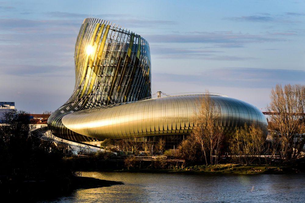 façade de la cité du vin, Bordeaux